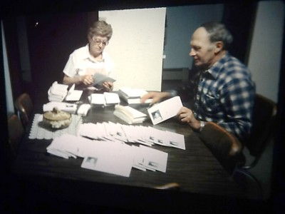 Dan's parents helping to mail out Jacob Wetterling flyers