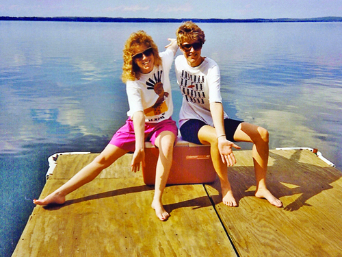 Betsy and Joy, Green Lake, 1991